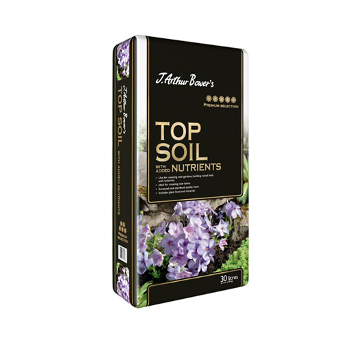30L Premium Topsoil With Added Nutrients J. Arthur Bowers