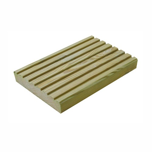 Decking Boards Grooved & Tanalised 120mm x 28mm