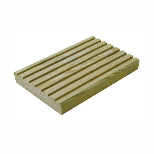 Decking boards grooved tanalised 120mm x 28mm for 6 inch wide decking boards