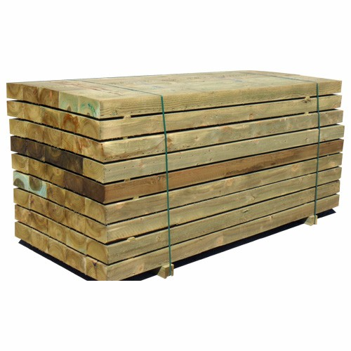 Garden Railway Sleepers Tanalised Green 2.4m