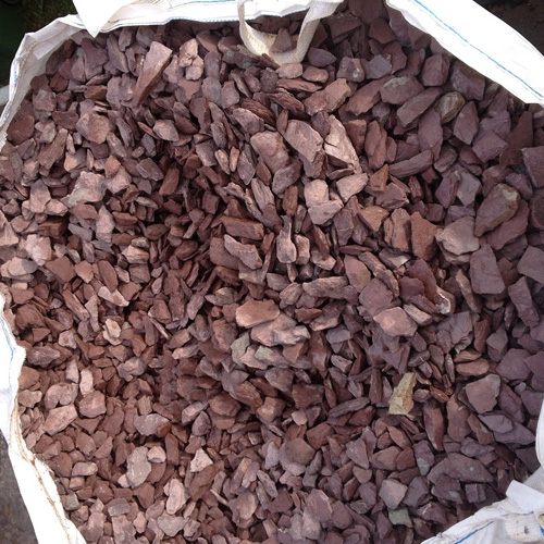 Decorative Stone Ground Cover : Plum slate chippings mm bulk bag coventry turf
