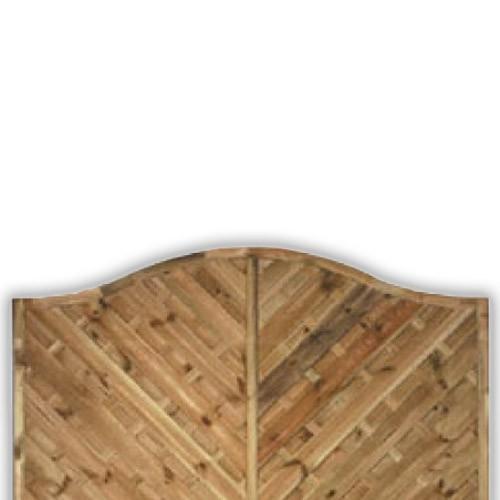 York Wave Fence Panel 900mm x 1800mm