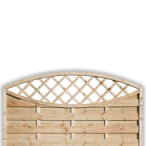 Sussex Oval Fence Panel 900mm x 1800mm