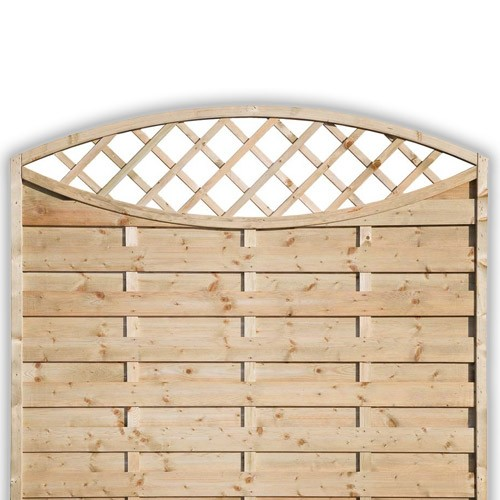 Sussex Oval Fence Panel 1500mm x 1800mm
