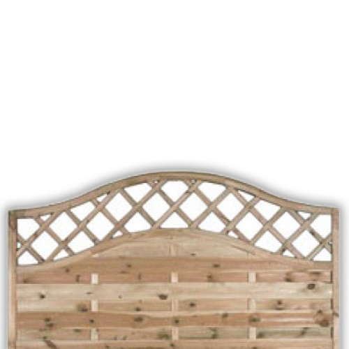 Sussex Wave Fence Panel 900mm x 1800mm