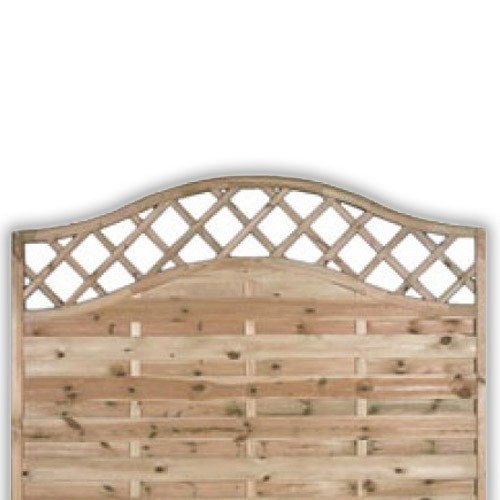 Sussex Wave Fence Panel 1200mm x 1800mm