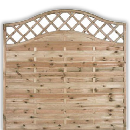 Sussex Wave Fence Panel 1800mm x 1800mm
