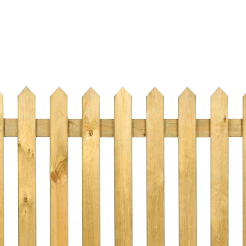 Pointed Top Pickett Fence 4ft x 6ft