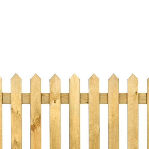 Pointed Top Pickett Fence 3ft x 6ft