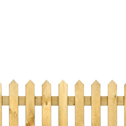 Pointed Top Pickett Fence 2ft x 6ft