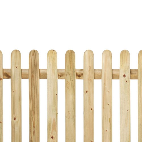 Round Top Pickett Fence 4ft x 6ft