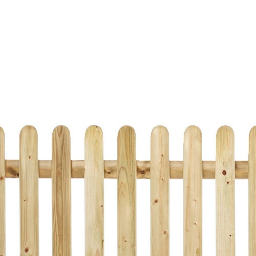Round Top Pickett Fence 3ft x 6ft