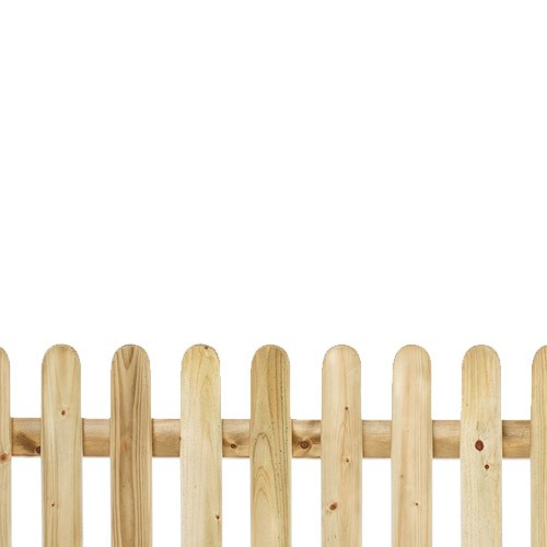 Round Top Pickett Fence 2ft x 6ft