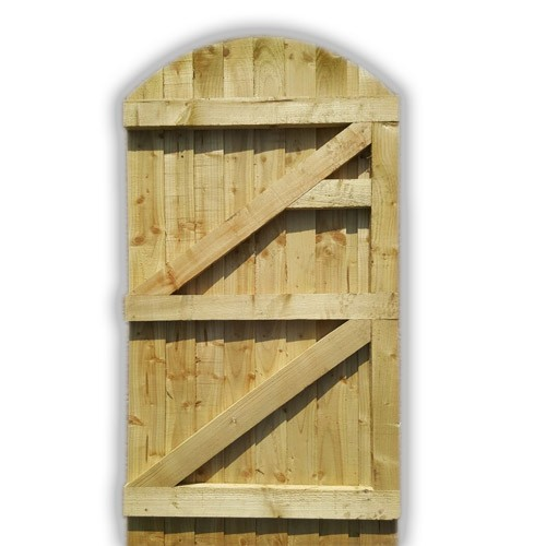 Arch Top Feather Edge Gate - Green Back