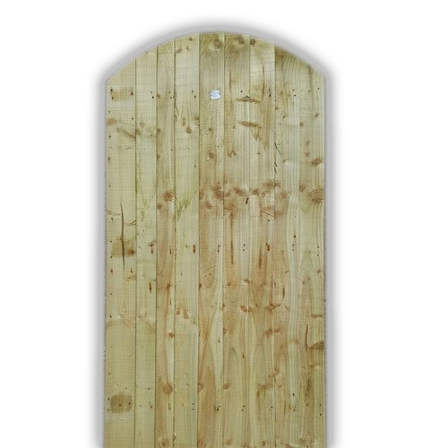 Arch Top Feather Edge Gate - Green Front