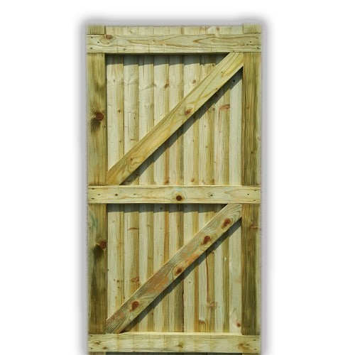 Flat Top Feather Edge Gate - Green Back