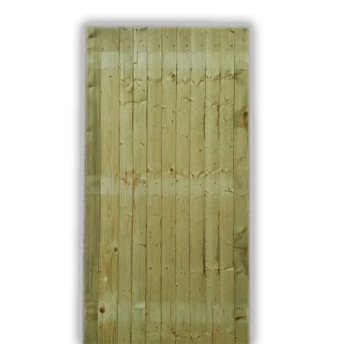Flat Top Feather Edge Gate - Green Front