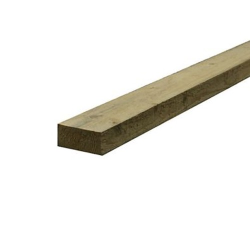 Treated Sawn Timber - 50mm x 100mm (4x2 Inches)