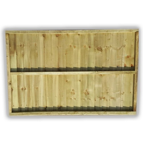 Feather Edge Fence Panel Back With Three Braces