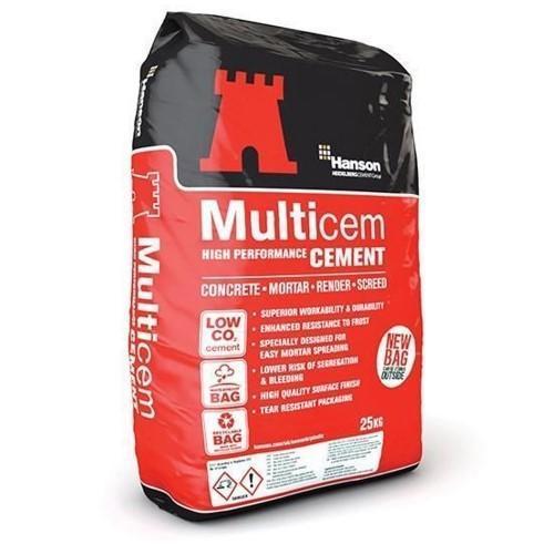 Cement plastic bag